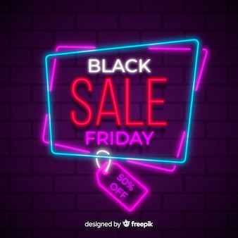 Kleurrijke neon zwarte vrijdag verkoop