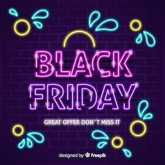 Kleurrijke neon zwarte vrijdag
