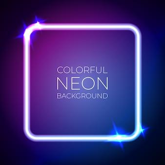 Kleurrijke neonlichtbanner