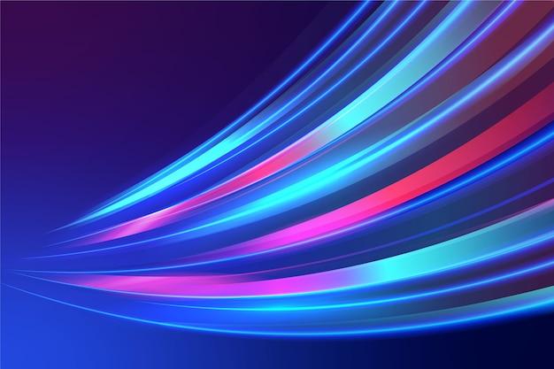 Kleurrijke neonlichtenachtergrond