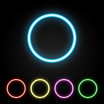Kleurrijke neonring
