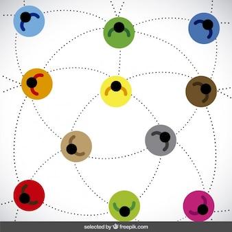 Kleurrijke netwerk illustratie