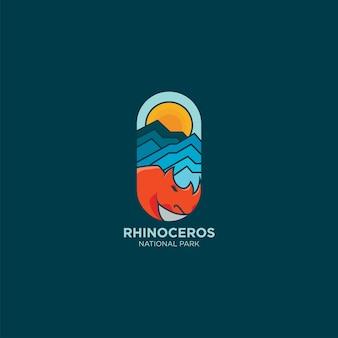 Kleurrijke neushoorn logo idee