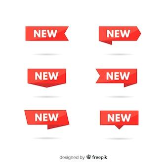 Kleurrijke nieuwe productetiketinzameling
