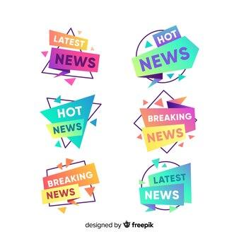 Kleurrijke nieuwste nieuwe banners