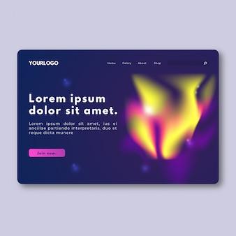 Kleurrijke northern light landing page