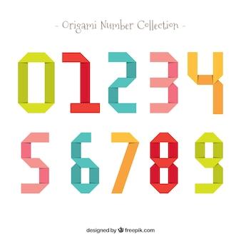 Kleurrijke nummerverzameling met plat ontwerp