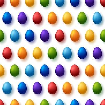 Kleurrijke paaseieren naadloze patroon.