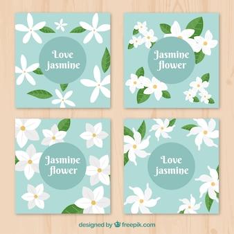 Kleurrijke pak jasmijnkaarten