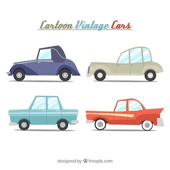 Kleurrijke pak vintage auto's