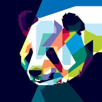 Kleurrijke panda