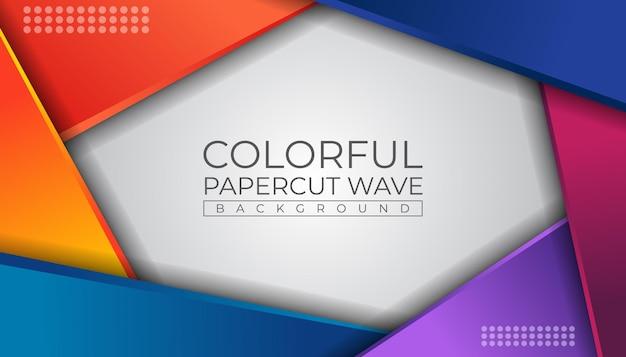 Kleurrijke papercut achtergrond