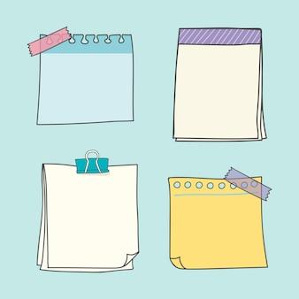 Kleurrijke papiercollectie