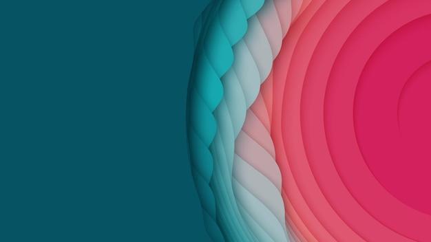 Kleurrijke papierlagen