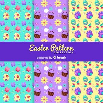 Kleurrijke pasen-dagpatrooninzameling