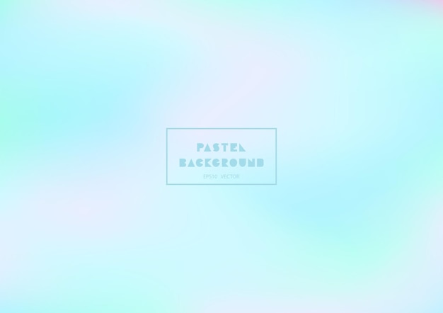 Kleurrijke pastel achtergrond met vloeiende curven. holografische gradiënttexturen.
