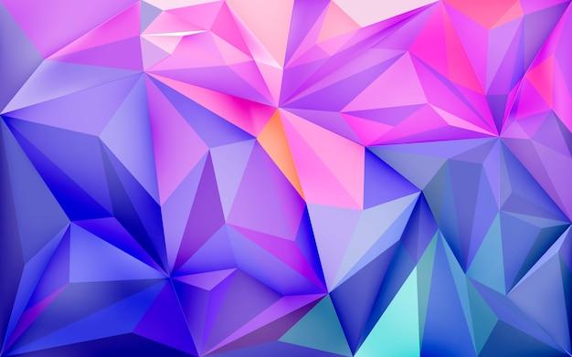 Kleurrijke pastel poly achtergrond