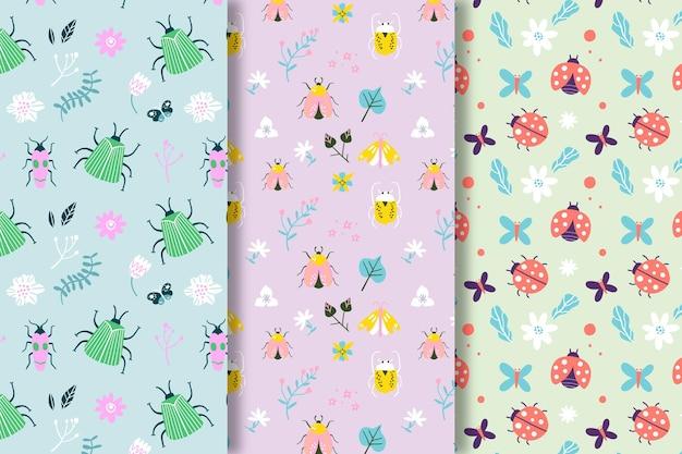 Kleurrijke patronen met verschillende bugs