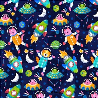 Kleurrijke patroonachtergrond van melkweg