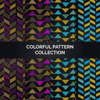 Kleurrijke patrooninzameling