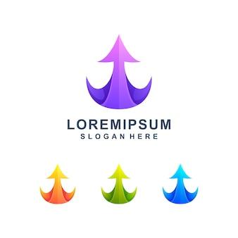 Kleurrijke pijl omhoog logo