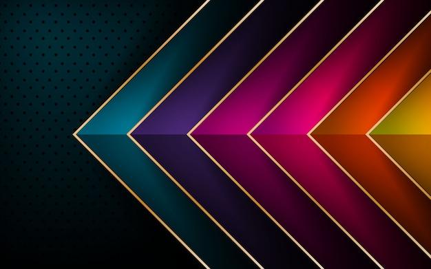 Kleurrijke pijl vector overlapping laag achtergrond
