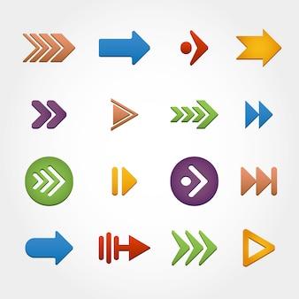 Kleurrijke pijlen collectie