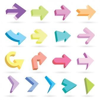 Kleurrijke pijlpictogrammen