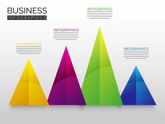 Kleurrijke piramide voor showinformatie