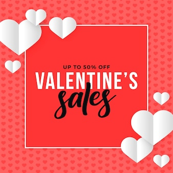 Kleurrijke platte valentijnsdag verkoop
