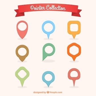 Kleurrijke pointer collectie