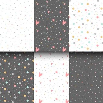Kleurrijke polka dots ontwerp vector