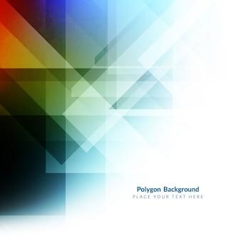 Kleurrijke polygon achtergrond vorm ontwerp