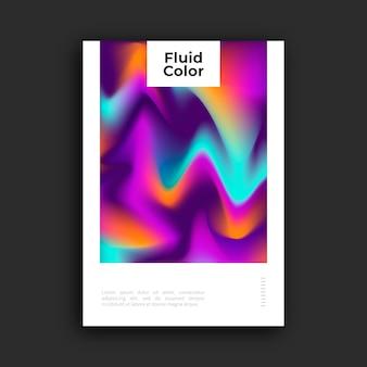 Kleurrijke poster met vloeibaar effect