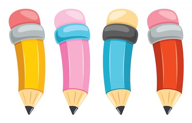 Kleurrijke potloden voor kinderen onderwijs