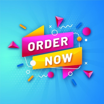 Kleurrijke promotionele bestelling nu sjabloon voor spandoek
