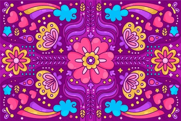 Kleurrijke psychedelische hip achtergrond