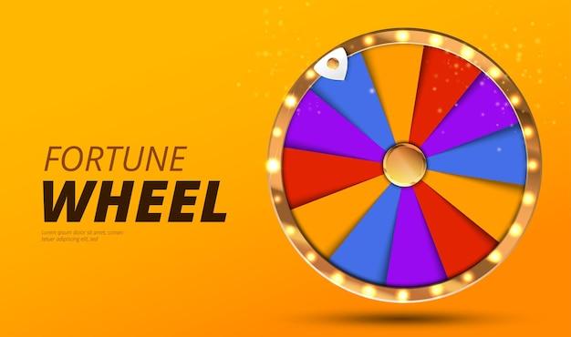 Kleurrijke rad van geluk of fortuin infographic online casino achtergrond