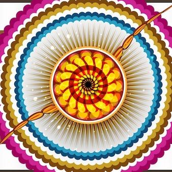 Kleurrijke raksha bandhan achtergrond