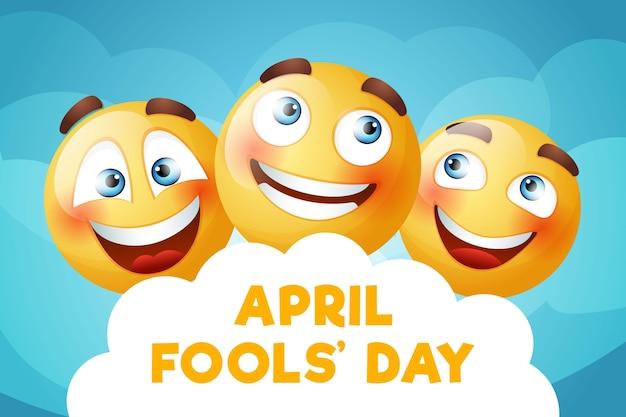Kleurrijke realistische april dwazen dag illustratie