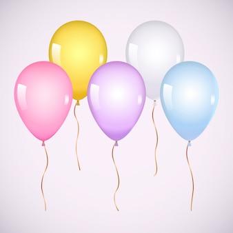 Kleurrijke realistische heliumballonnen