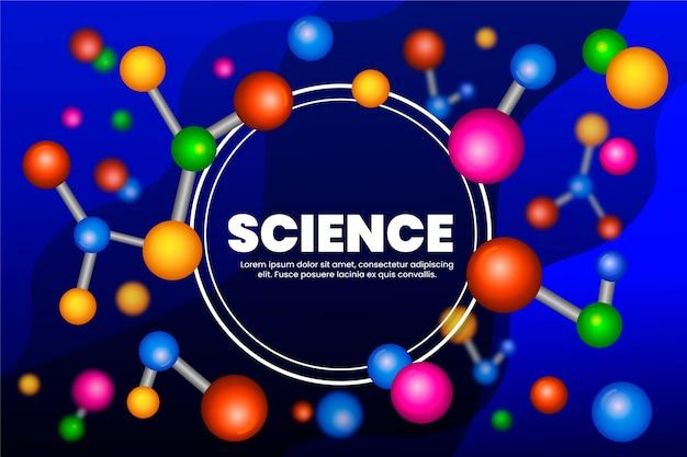 Kleurrijke realistische wetenschappelijke achtergrond