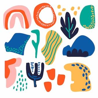 Kleurrijke reeks abstracte vormen