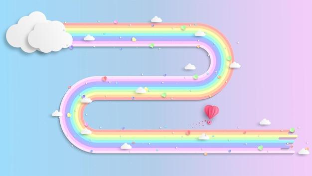 Kleurrijke regenboog achtergrond