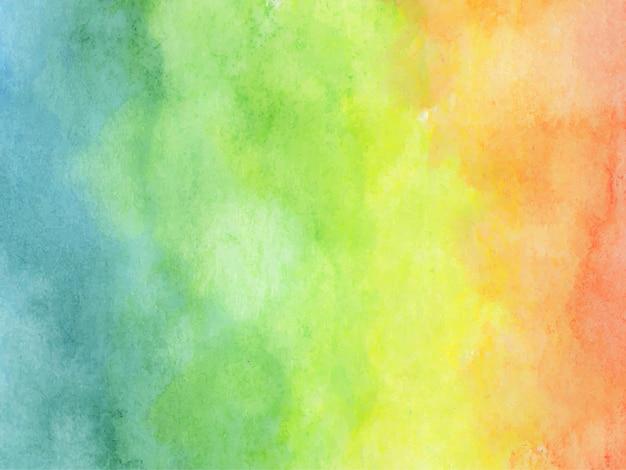 Kleurrijke regenboog aquarel achtergrond - abstracte textuur.