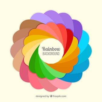 Kleurrijke regenboogachtergrond
