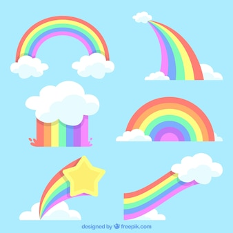 Kleurrijke regenboogreeks