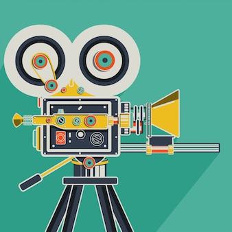 Kleurrijke retro bioscoop