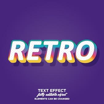 Kleurrijke retro tekststijl