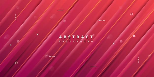 Kleurrijke rode geometrisch met de achtergrond van de streeptextuur
